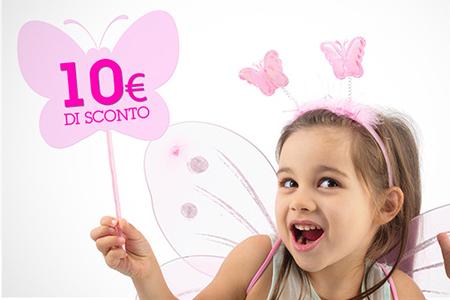 10 € di sconto per un ordine minimo di 30 €